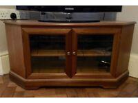 Solid wood corner TV cabinet