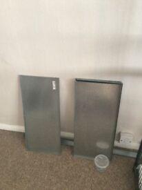 2 metal storage units