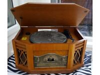 Steepletone Model 2057 with turntable, radio, cd player and cassette player