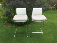 White Breakfast bar chair/stools (with backs) (2) from IKEA