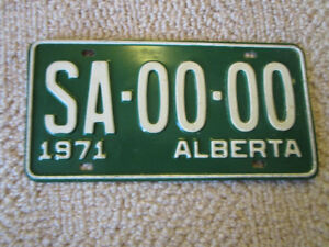 Collectible Alberta license plates. Pairs and singles.