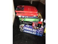 CRIMINOLOGY AND LAW TEXTBOOKS