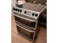 Cannon York silver 60cm Double electric cooker