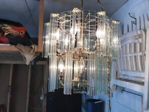 glass chandelier with 10 bulbs