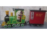 Postman Pat, Greendale Rocket, Motorised and Push Along Train with Driver Ajay Figure
