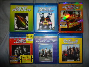 FAST AND THE FURIOUS 1-6 BLURAY SET