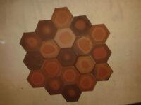 Clay hexaginal iciceram spanish tiles