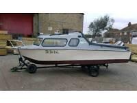 17ft fishing boat 2 berth