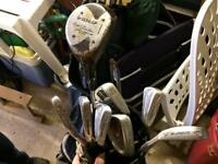 Various golf clubs used