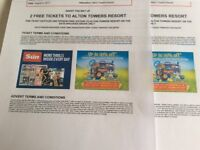 2x adult Alton towers ticket wed 9th August 2017
