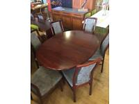 Dining Table Rosewood Danish extending Vintage