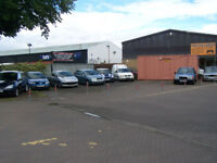 CAR SALES FORECOURT AND OFFICE TO RENT PRIME LOCATION TRANENT EAST LOTHIAN