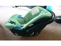 Baby car seat mamma and papas and isofix base