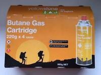 Yellowstone Butane Gas Cartridge (4 x 220g)