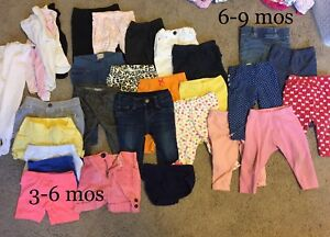 Baby girl clothes - pants 3-9mos