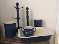 Le Creuset set with co-ordinating mug and kitchen towel holder