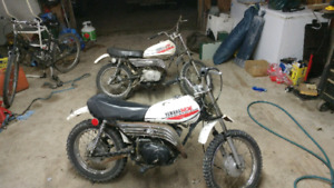 Two 1981 yamaha mx 80
