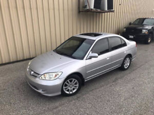 2005 Honda Civic LX-G Sedan CERTIFIED ONLY 86,000KM