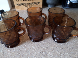 Vintage glass mugs
