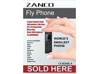 Zanco fly Phone worlds smallest phone