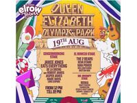 Elrow Town London VIP Saturday 19th August (2 tickets)