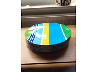 Picnic camping dinner plates x 7