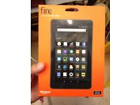 Amazon Tablet. 7 inches screen. 16 GB. 5th Generation. BRAND NEW & BOXED. First to see will buy.