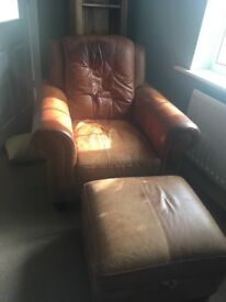 Three seater two seater single chair and footstool (with storage)