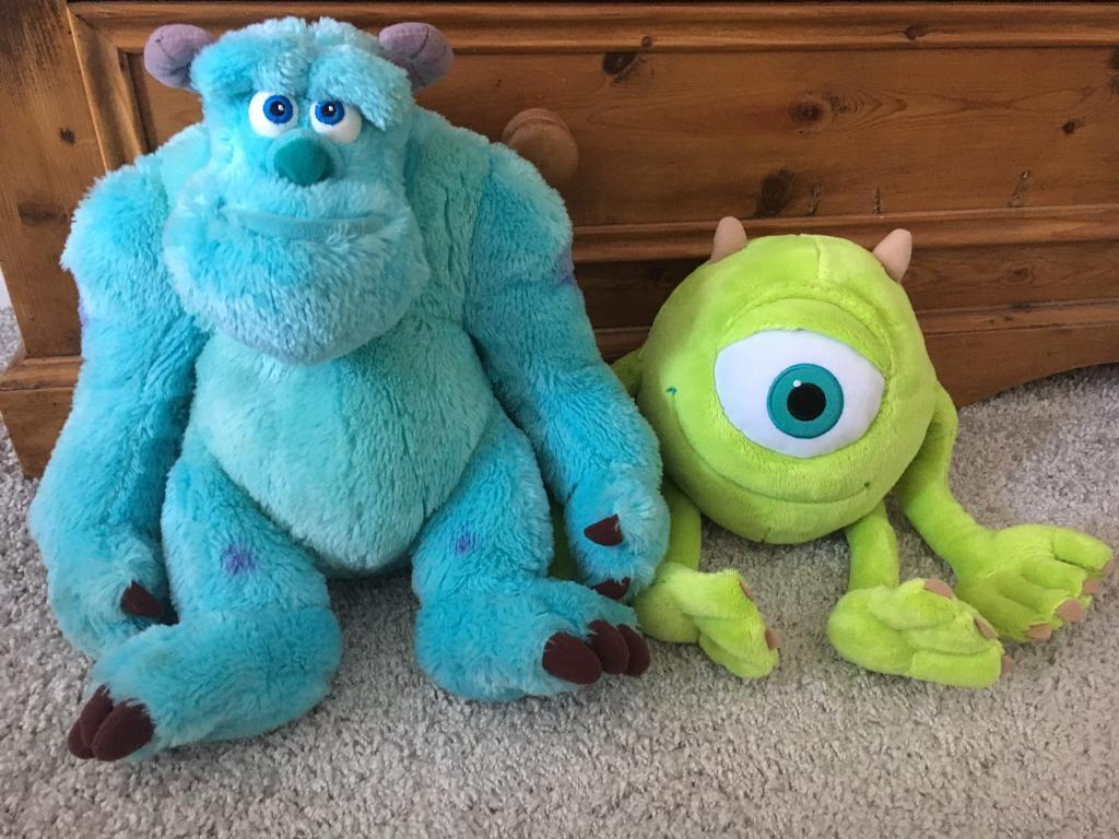 Disney Monsters Inc Soft Toysin Gosforth, Tyne and WearGumtree - Disney Monsters Inc Soft Toys, Sully and Mike in excellent condition £6 for both