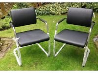 Pair of Real Leather Office Chairs Brand New