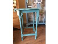 Mahogany side table statement piece