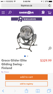 Graco 2-1 swing and bouncy chair