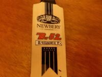 2 MINIATURE CRICKET BATS SIGNED, SUSSEX vs GLOUCESTERSHIRE at ARUNDEL 2011 & NEWBERY B.52 BOMBER