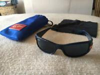 Ray-ban junior sunglasses (genuine) and cloth and case.