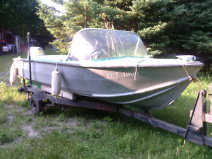 Boat  with trailer Honda 20 hp