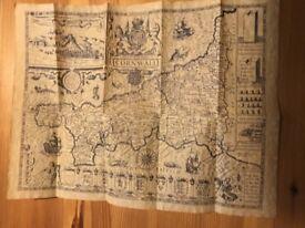 1610 Cornish Map Replica