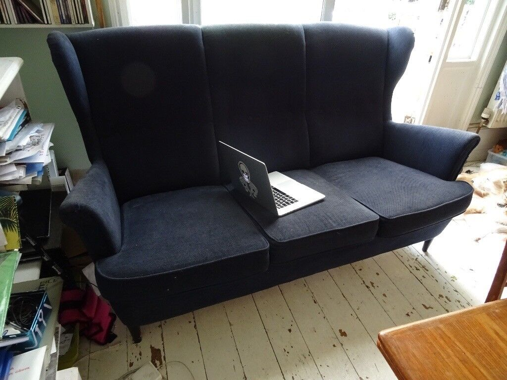 funky retro ikea strandmon 3 seater wingback sofa in dollis hill london gumtree. Black Bedroom Furniture Sets. Home Design Ideas