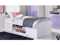 Single Bed frame White - Kids