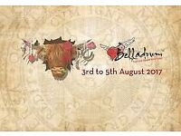 ( 4 ) Belladrum Adult 3 Day Weekend Camping Tickets (INCLUDES MAINSTAGE)