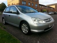 ★ LOW 88,000 mls ★ FULL SERV. H - 9 STAMPS ★ 2002 HONDA CIVIC 1.6 SE 5dr ★ 3 OWNERS, HIGH SPEC