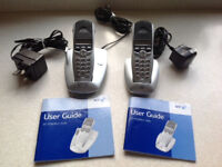 BT Digital Cordless Telephones (2) with bases. Synergy 3105 and 3005