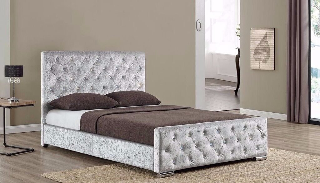 image 1 of 4 - Brusali Bed Frame Review