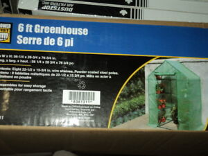 6 foot green house never out of the box