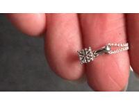925 silver and diamond necklace (hallmarked)