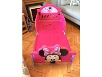 Toddlers Minnie Mouse bed for sale