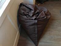 Huge Brown FatBoy Type BeanBag Bean Bag 5.5 foot x 4.5 foot (£30)