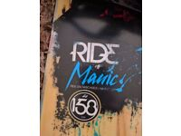 Ride Manic 158cm snowboard with K2 binding.