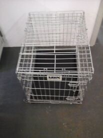 Savic silver dog cage with tray