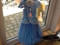 Beautiful Cinderella Disney Store dress and gloves 3-4