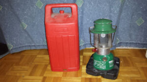Coleman kerosene lamp with protective case